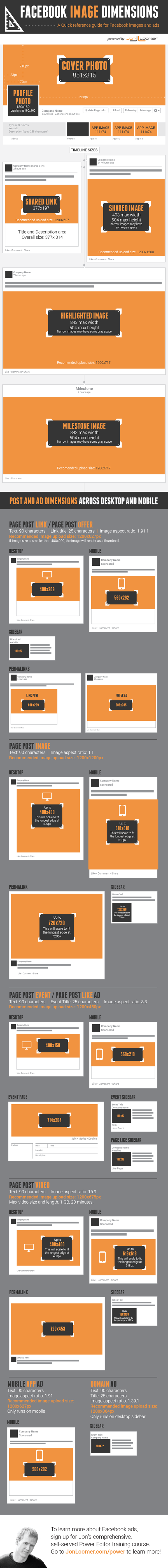 Create the Perfect Facebook Page With This Image Dimension Cheat Sheet