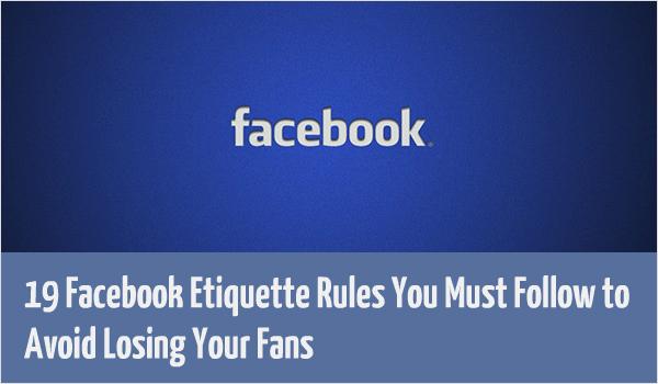 facebook etiquette rules