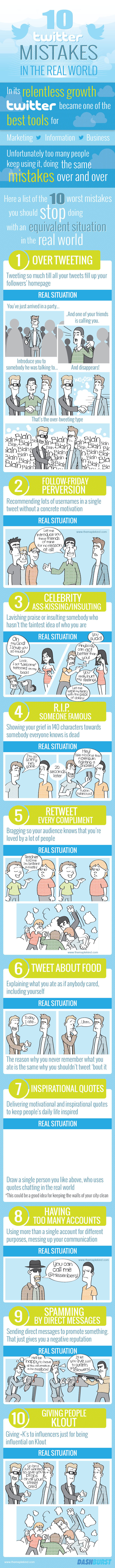 10 Twitter Mistakes You Also Make in Real Life