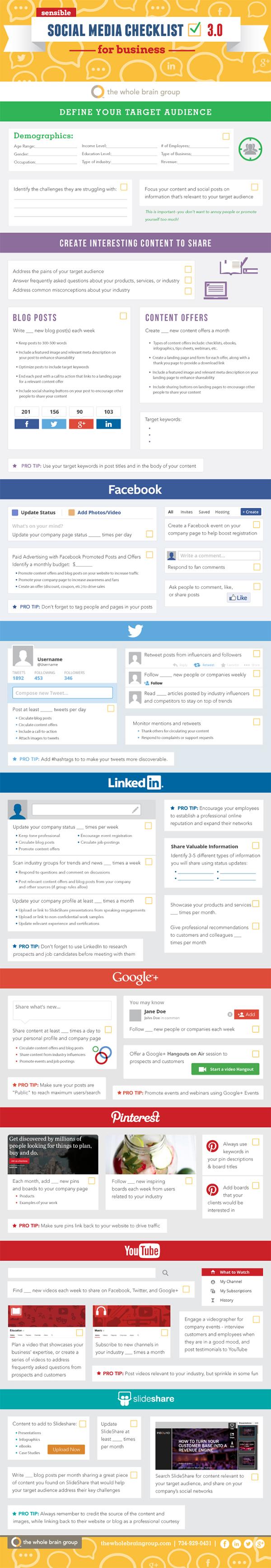 Social Media Checklist Follow This Guide for Social Media Marketing Success