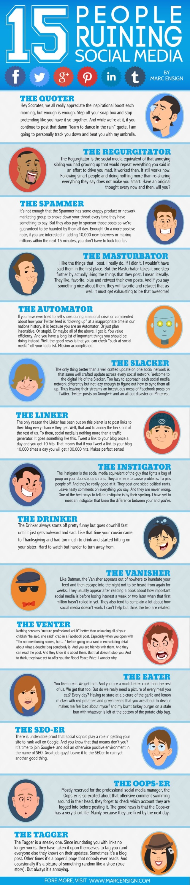 15 Types of People Ruining Social Media (We're Probably 3 of Them!)