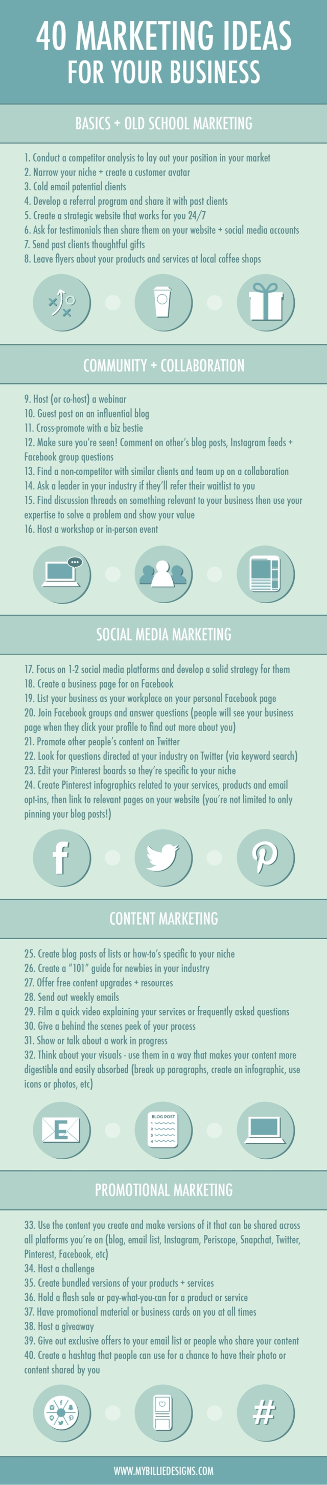 40 Marketing Ideas For Your Small Business [infographic. Templates In Outlook 2010 Template. Romeo And Juliet Death Scene Template. Teacher Training Personal Statement Examples Template. Sample Resume Research Assistant Template. Time Management Templates Excel Template. Sample Of Curriculum Vitae Yang Menarik. Star Template Full Page Template. Wording For Gift Vouchers Template 554801